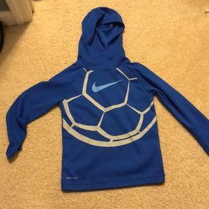 Nike Dri-Fit Waffle Texture Soccer Hoodie Shirt
